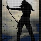 Sagittarius girl cross stitch pattern in pdf DMC