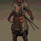 Samurai cross stitch pattern in pdf DMC