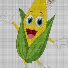 Tubular corn cross stitch pattern in pdf DMC