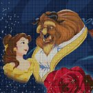 Beauty and the Beast LOVE cross stitch pattern in pdf DMC