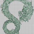 Quetzalcóatl art cross stitch pattern in pdf DMC