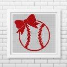 Baseball girl2 silhouette cross stitch pattern in pdf