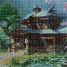 Chinese pagoda cross stitch pattern in pdf DMC