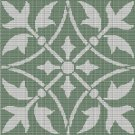 GREEN AND LIGHT VIOLET MOTIFS CROCHET AFGHAN PATTERN GRAPH