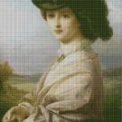 Frank Dicksee: Pre Raphaelite- art cross stitch pattern in pdf DMC