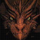 Dragon head - red- cross stitch pattern in pdf DMC