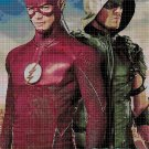 The Flash and Green Arrow2 cross stitch pattern in pdf DMC