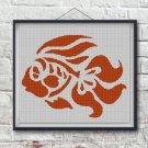 Golden fish3 silhouette cross stitch pattern in pdf