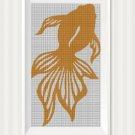 Goldfish3 silhouette cross stitch pattern in pdf