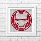 Ironman logo silhouette cross stitch pattern in pdf