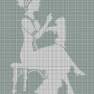 Lady and Cat silhouette cross stitch pattern in pdf