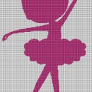 Little Balerina silhouette cross stitch pattern in pdf