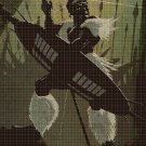 African warrior cross stitch pattern in pdf DMC