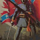Confederate soldier cross stitch pattern in pdf DMC