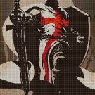 Crusader cross stitch pattern in pdf DMC