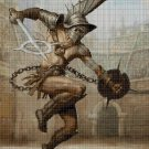 Gladiator cross stitch pattern in pdf DMC