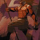 Indian warrior cross stitch pattern in pdf DMC