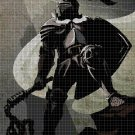Teutonic knight cross stitch pattern in pdf DMC