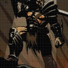 Warrior knight cross stitch pattern in pdf DMC