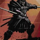 Samurai cross stitch pattern in pdf DMC