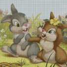 Cute bunnies cartoon characters cross stitch pattern in pdf DMC
