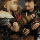 Hiccup and Astrid cross stitch pattern in pdf DMC