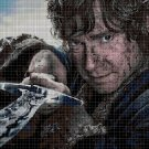 Bilbo the Hobbit cross stitch pattern in pdf DMC