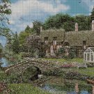 House by the river cross stitch pattern in pdf DMC