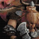 How to train...-Stoick cross stitch pattern in pdf DMC