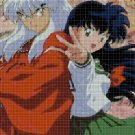 Inuyasha & Kagome cross stitch pattern in pdf DMC