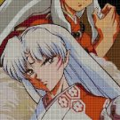 Inuyasha & Seshomaru cross stitch pattern in pdf DMC