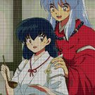 Inuyasha and Kagome cook cross stitch pattern in pdf DMC