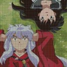 Inuyasha and Kagome2 cross stitch pattern in pdf DMC