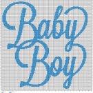 BABY BOY TEXT CROCHET AFGHAN PATTERN GRAPH