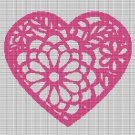 FLOWER HEART CROCHET AFGHAN PATTERN GRAPH