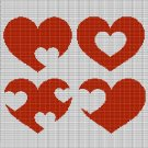 HEARTS 3 CROCHET AFGHAN PATTERN GRAPH