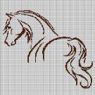 HORSE 4 CROCHET AFGHAN PATTERN GRAPH