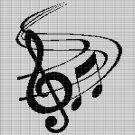 MUSIC CROCHET AFGHAN PATTERN GRAPH
