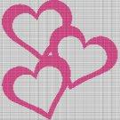 PINK HEARTS CROCHET AFGHAN PATTERN GRAPH