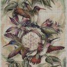 Hummingbirds cross stitch pattern in pdf DMC