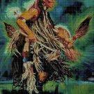 Cherokee Indian fighting dance cross stitch pattern in pdf DMC