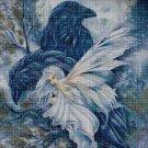 Fairy and raven cross stitch pattern in pdf DMC
