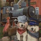 Rail dogs - fantasy art cross stitch pattern in pdf