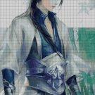 Warrior guy fantasy art cross stitch pattern in pdf