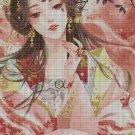 Beauty fantasy art cross stitch pattern in pdf3 DMC