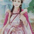 Chinese beauty fantasy art cross stitch pattern in pdf DMC