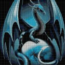 Dragon fantasy art cross stitch pattern in pdf DMC