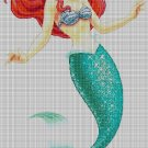 Ariel cross stitch pattern in pdf DMC