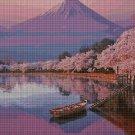 Fuji Japan cross stitch pattern in pdf DMC