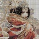 Japanese princess cross stitch pattern in pdf DMC